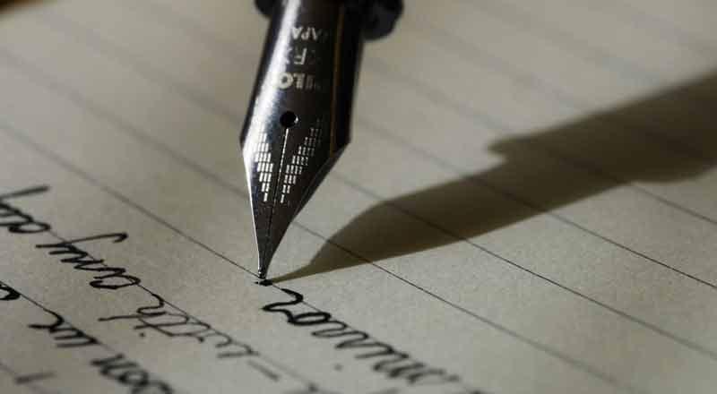 Skrift på papir